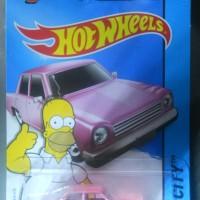 HOT WHEELS The Simpsons Homer family car sedan pink 2015 HW city ASLI