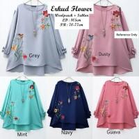Baju Atasan Wanita Muslim / Blouse / Tunik / Elisa Flower Top