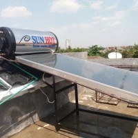 Solar SUN HOT Water Heater 125 Liter. 8 Alur cell Pipa Tembaga