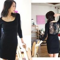 Jual dress mini sexy low back brokat import 68932 Murah