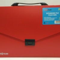 Expanding File Handle F4 Inter-X - Merah | Expanding File Tenteng Atas