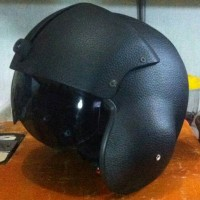 Jual Helm Pilot Oscar Kulit Visor Kacamata Murah