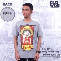 Kaos Luffy Pirate King Anime One PIece Baju Tshirt