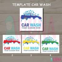 Template Design logo Car Wash / Cuci Mobil Untuk Banner Spanduk