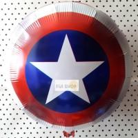 Balon Foil Character Tameng Captain America / Shield Star / Avengers