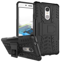 Casing Rugged Armor Lenovo K6 Note/K6 Plus Kick Stand Soft Case Cover