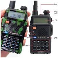Jual Handy Talky (HT) Baofeng BF-UV5R / UV5R Dual Band Hitam Murah