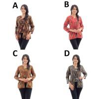 Jual AAK277 Atasan Batik Katun Model Kutubaru Modern Baju Wanita Murah  Murah