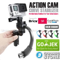 Action Cam Plastic Curve Stabilizer for GoPro, BRICA B-PRO & Xiaomi Yi