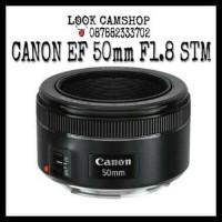 LENSA KAMERA DSLR CANON EF 50mm 50 F/1.8 STM FOR EOS 1200D 1300D 700D