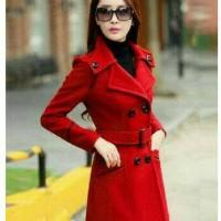 Jual Blazer / Coat / Jacket Korea Quenna Red Murah