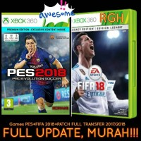 PES 2018+FIFA 2018 XBOX 360 GAMES PLUS PATCH FULL UPDATE SEASON 2018