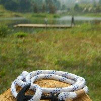 Jual gelang lilit prusik layer with Black anchor Murah