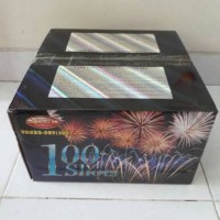 Jual Kembang Api Cake 100 shots Diameter 1 inch Murah