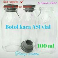 Jual botol ASI kaca 100ml free 1 pcs pembelian kelipatan 50 pcs Murah
