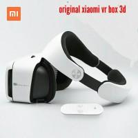 Paket VR box premium Xiaomi plus remote 9 axis-kacamata 3D game mania
