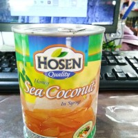 Hosen honey sea coconut in syrup 565 gr / buah lontar / siwalan