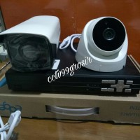 paket camera cctv 2 camera dvr edge 4 ch 5 in 1 aplikasi froun cloud