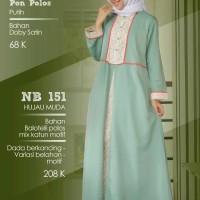 nibras gamis 151 hijau muda