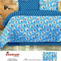Bed cover set katun lokal halus Doraemon Emotion Size 100x200/120x200