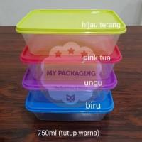 Jual Food box/Container Microwave/Kotak Makan/Wadah plastik 750ml (Seri 2) Murah
