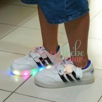 Sepatu Anak LED Adidas Import Real picture foto produk asli- Putih