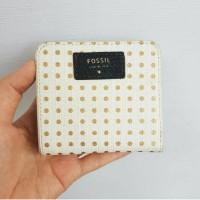 minor defect dompet fossil sydney mini bifold polkadot wallet