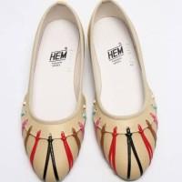 Harga aq2363 sepatu wanita flatshoes hem cream 6340 kode | Pembandingharga.com