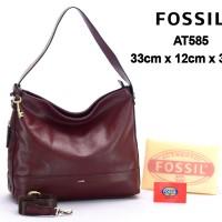 Tas Fossil Maya Hobo Leather COKLAT TUA Semi Premium AT585 872e72fce1