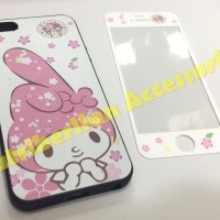 iphone 5 / 5s Soft Case & Tempered Glass Gambar My Melody Back Cover