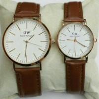 jam tangan couple cp pasangan dw daniel Wellington murah tali kulit