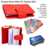 Flip Card Mini GC Emboss red