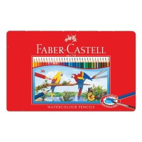 Pensil Warna Faber Castell 36 Water colour Kemasan Kaleng (Tin Case)
