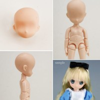 ID 12520 OBITSU Head for 11cm doll : Kids / 1pc