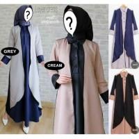 Jual Long Dress Muslim / Baju Dress Muslim [LAYER DRESS] Murah
