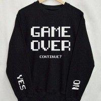 Sweater basic / long sleeve / sweater tumblr GAME OVER