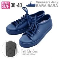 Jual Bara Bara Jelly Sneakers Silikon Shoes Cewek Silicone Kets-Navy Blue Murah