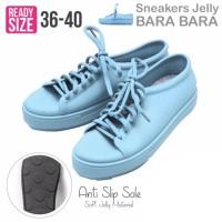 Jual Bara Bara Jelly Sneakers Silikon Shoes Cewek Silicone Kets - Sky Blue Murah