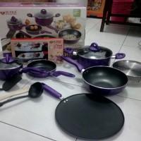 Jual Supra panci teflon cookware set 12 pcs rosemary Murah