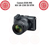 Kamera Canon EOS M6 Kit + M18-150mm ; Camera Mirrorless M6 Kit ; 24MP