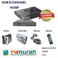 NVR 8 CHANNEL NVSIP Support IP CAMERA ONVIF kualitas terjamin