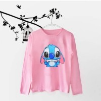 Tumblr Tee / Kaos Wanita / T-shirt / T-shirt Tangan Panjang Lilo Stich