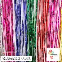 Jual Tirai Foil / Curtain Foil / Backdrop Foil/ Rumbai Foil Murah