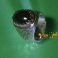 Jual Cincin Perak 925 Sterling Silver Pria Mata Hitam Rdn 01