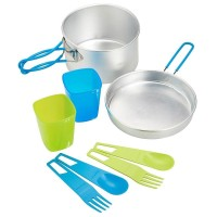 Quechua Cooking Set Double/ Alat Masak Camping/ Nesting