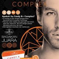 Jual Trial Pack Suplemen Vitamin Herbal Kejantan Pria CANDY B+ Complex Murah