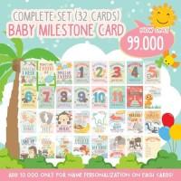 Baby Milestone Card Complete (Kartu Milestone Tumbuh Kembang Bayi)