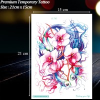 TEMPORARY TATTOO IKAN KOI ABSTRAK / TATO TEMPORER MURAH, LC-765