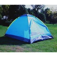 Double Layer Door Camping Tent / Tenda Camping - Blue
