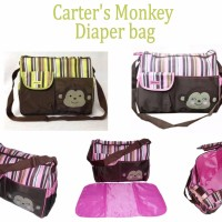 spesial Carter s Monkey Diaper Bag